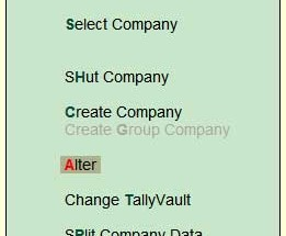 How to change address and financial year of a company in Tally.ERP 9