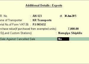When and how Land customs code be provided in the sales  in Tally.ERP 9Release 5?