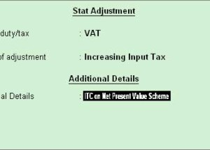 How to claim 75% input credit on tax paid under NPV scheme in Tally ERP 9?