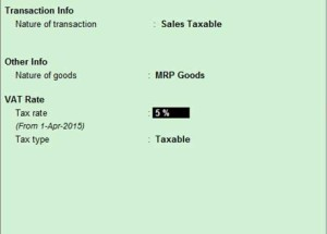 How to configure MRP goods in accounts only company for Odisha in Tally ERP9 Release 5?  How to calculate VAT on MRP for these goods?