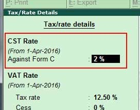 configure VAT and CST rate for an item which is dealt locally as well as interstate in Tally.ERP 9?
