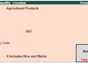 Creating VAT Commodity for botswana VAT